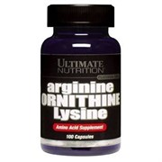 ULTIMATE NUTRITION ARGININE ORNITHINE LYSINE (100 КАПС.)
